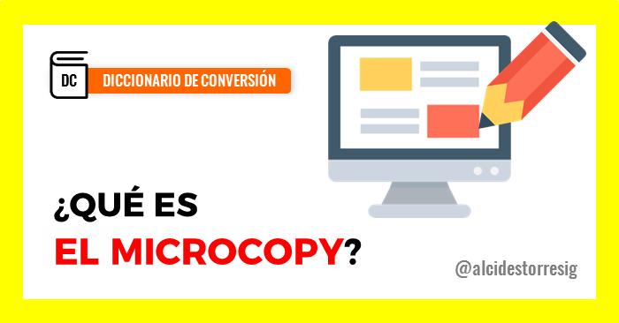 qué es el microcopy